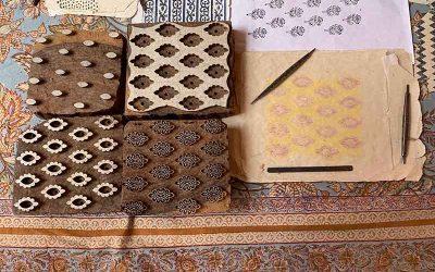 Block printing in Bagru, India