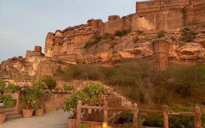 The Ultimate Sunset Restaurant in Jodhpur, India